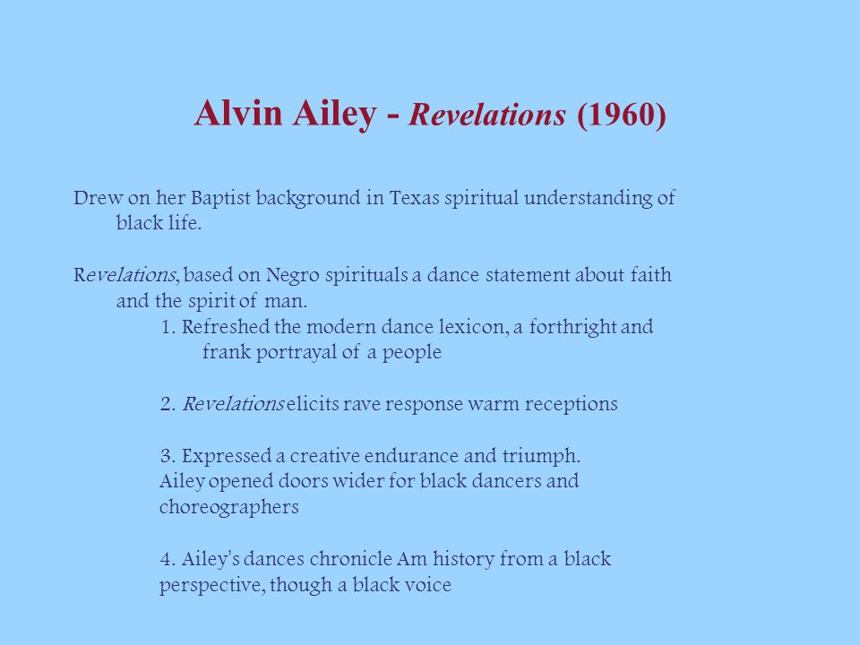 Alvin Ailey - Revelations (1960)