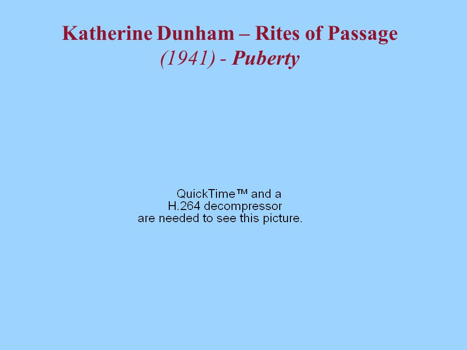 Katherine Dunham – Rites of Passage (1941) - Puberty