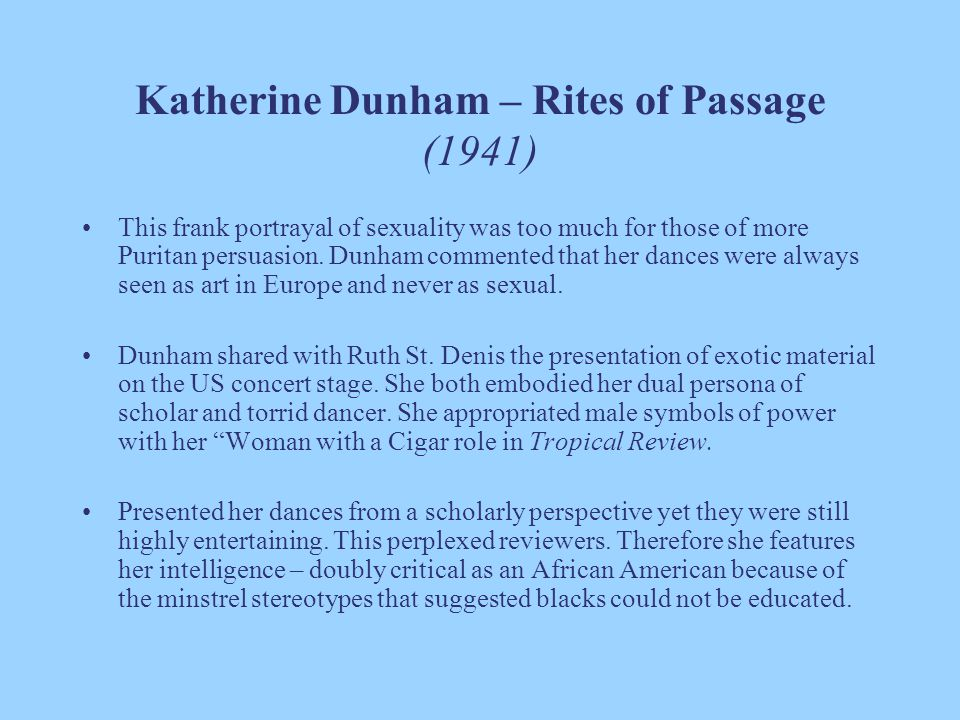 Katherine Dunham – Rites of Passage (1941)