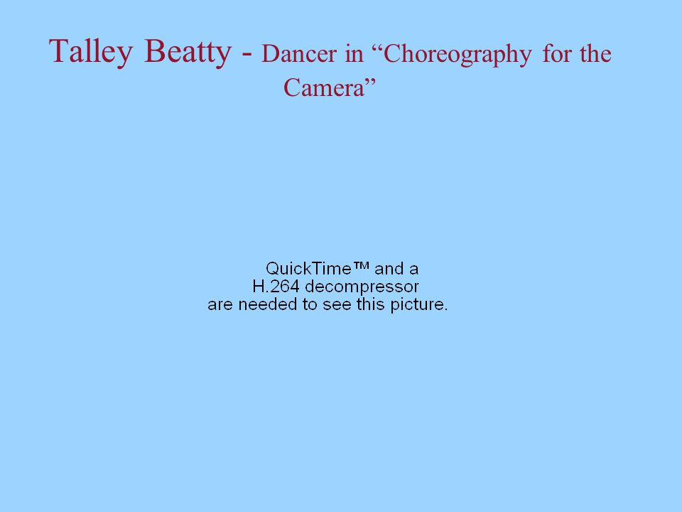 Talley Beatty - Dancer in Choreography for the Camera