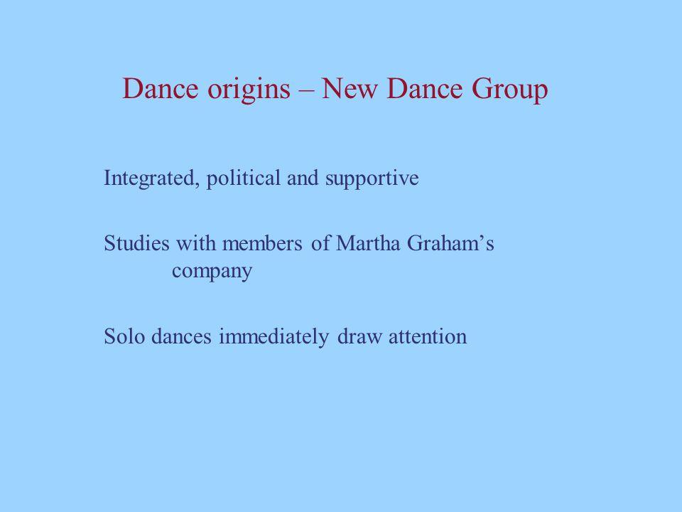 Dance origins – New Dance Group
