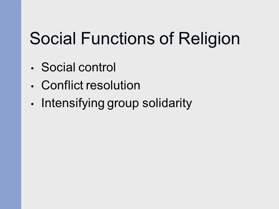 Social Functions of Religion