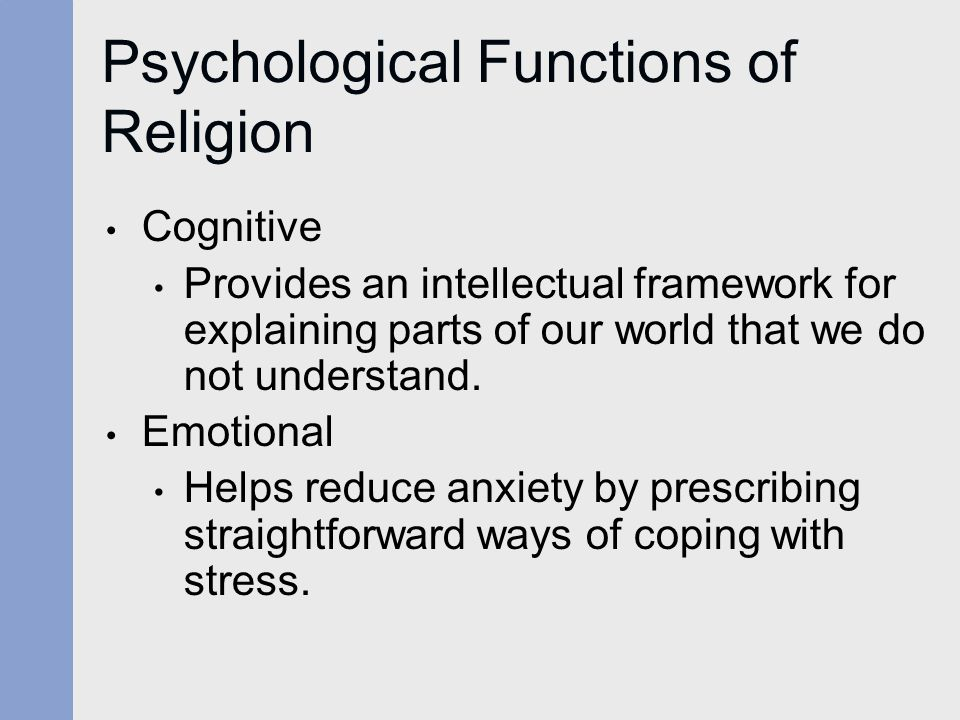 Psychological Functions of Religion