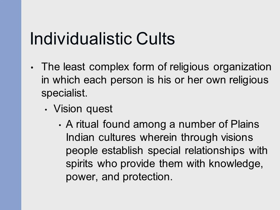 Individualistic Cults