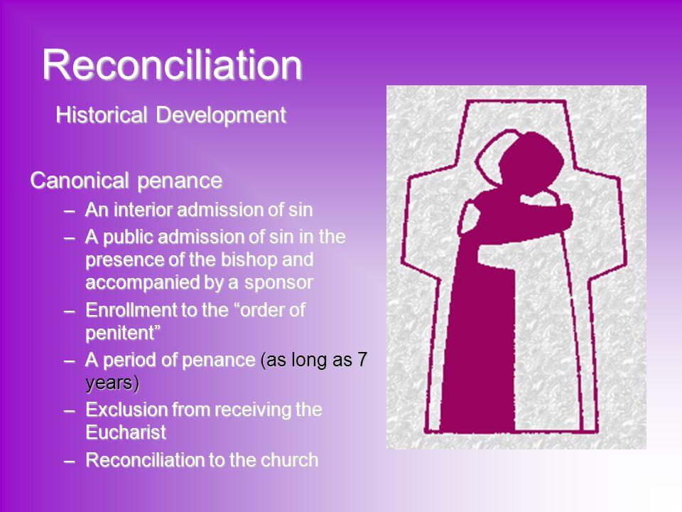 Reconciliation Historical Development Canonical penance