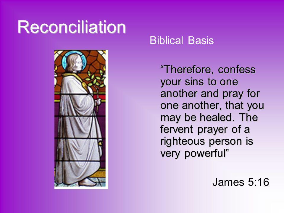 Reconciliation Biblical Basis