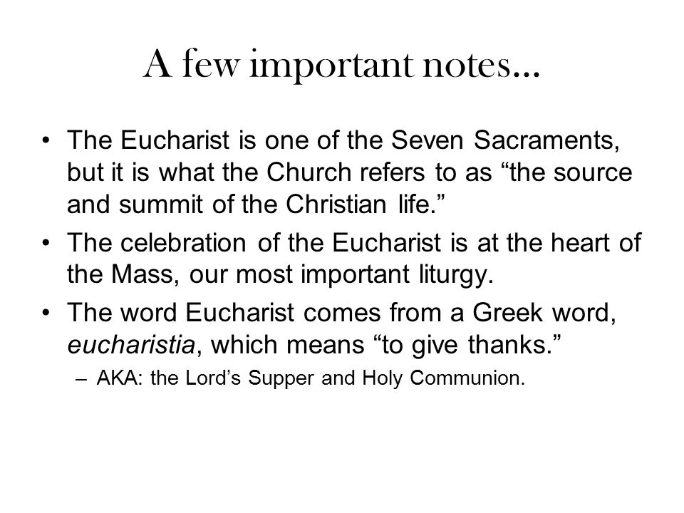 A few important notes...