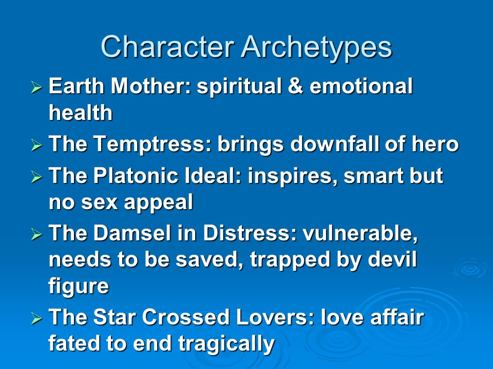 Character Archetypes Earth Mother: spiritual & emotional health