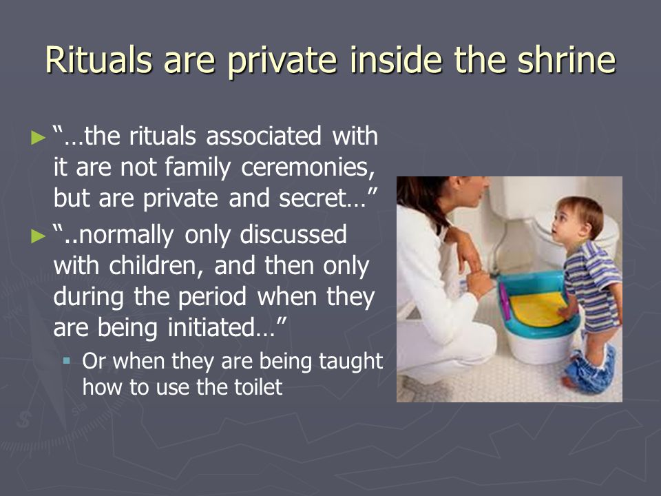 Rituals are private inside the shrine