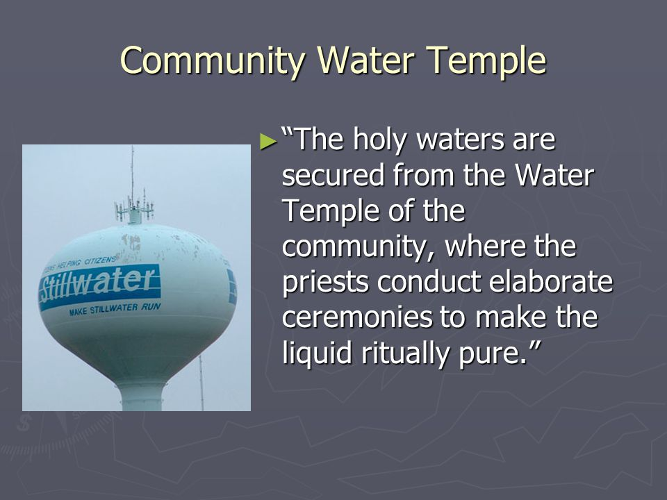 Community Water Temple