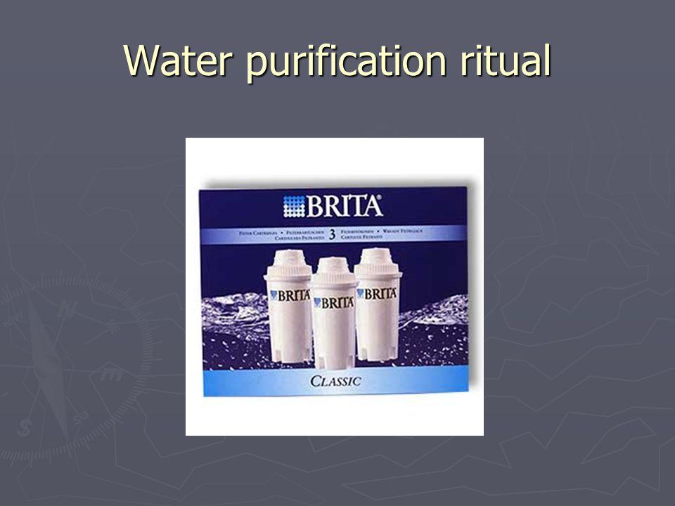 Water purification ritual