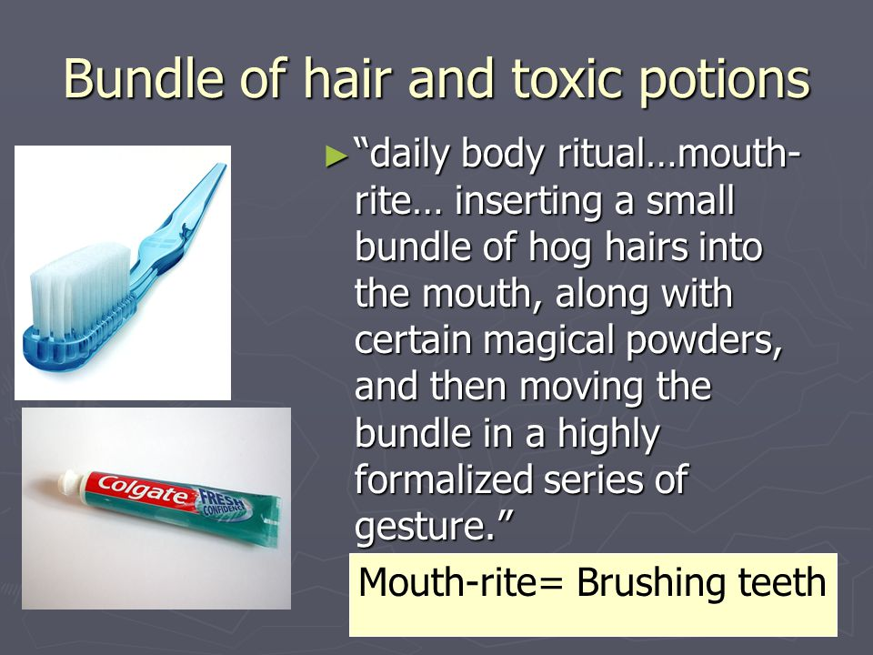 Bundle of hair and toxic potions
