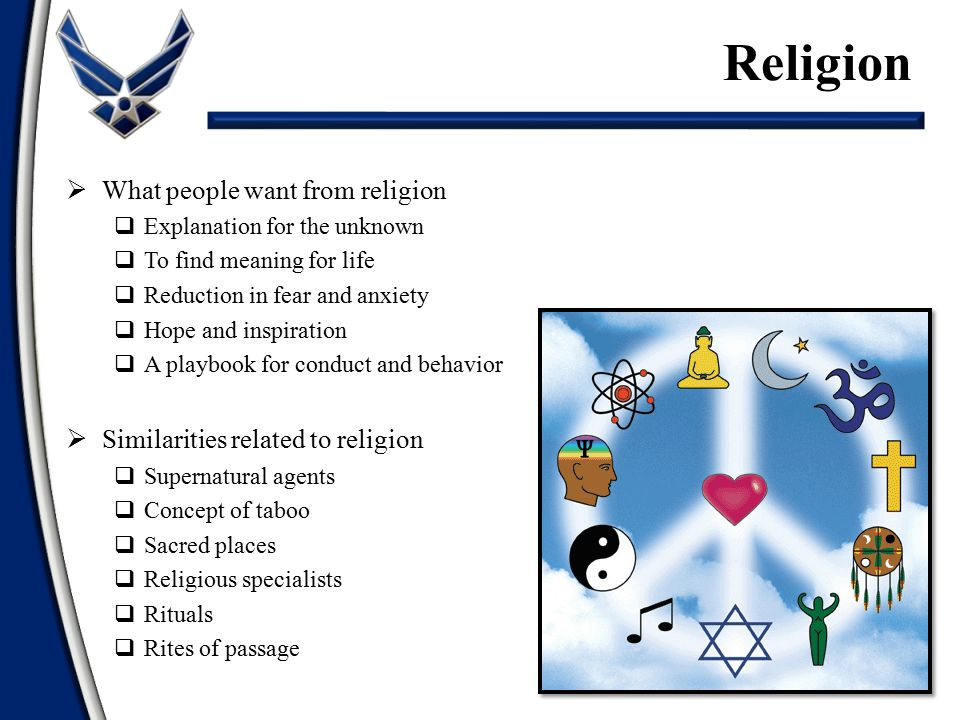Religion What people want from religion
