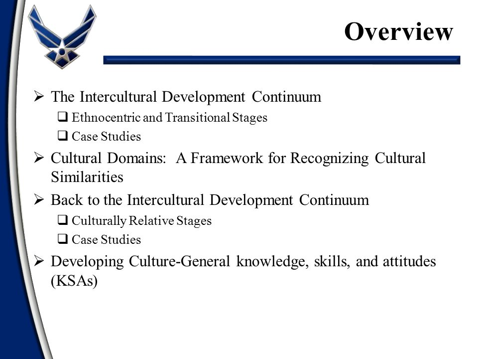 Overview The Intercultural Development Continuum