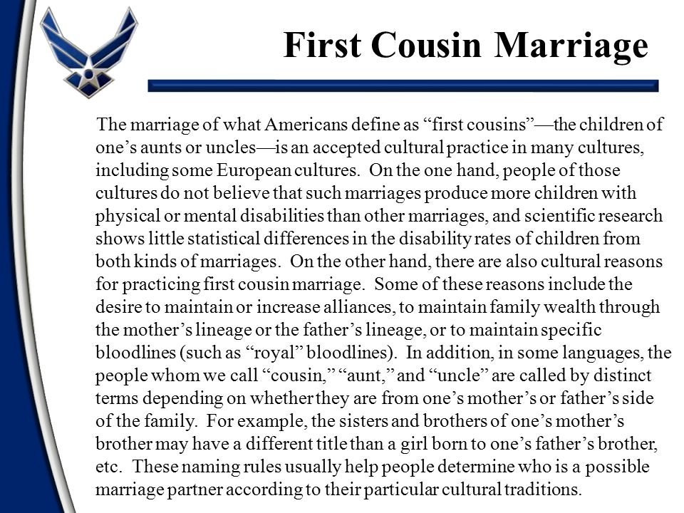 First Cousin Marriage
