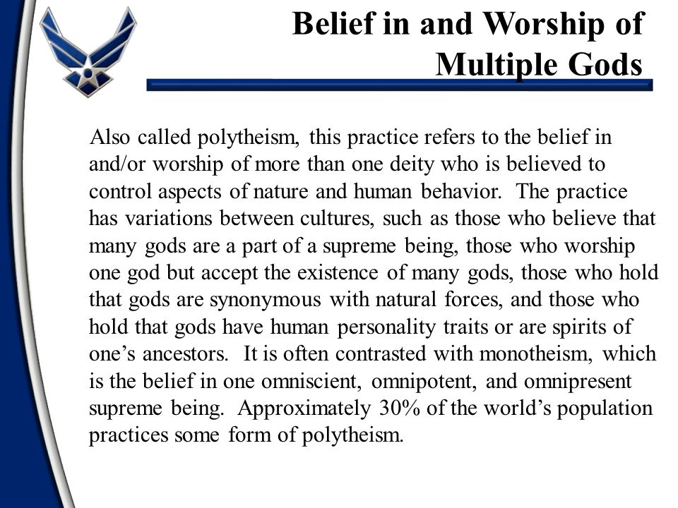 Belief in and Worship of Multiple Gods