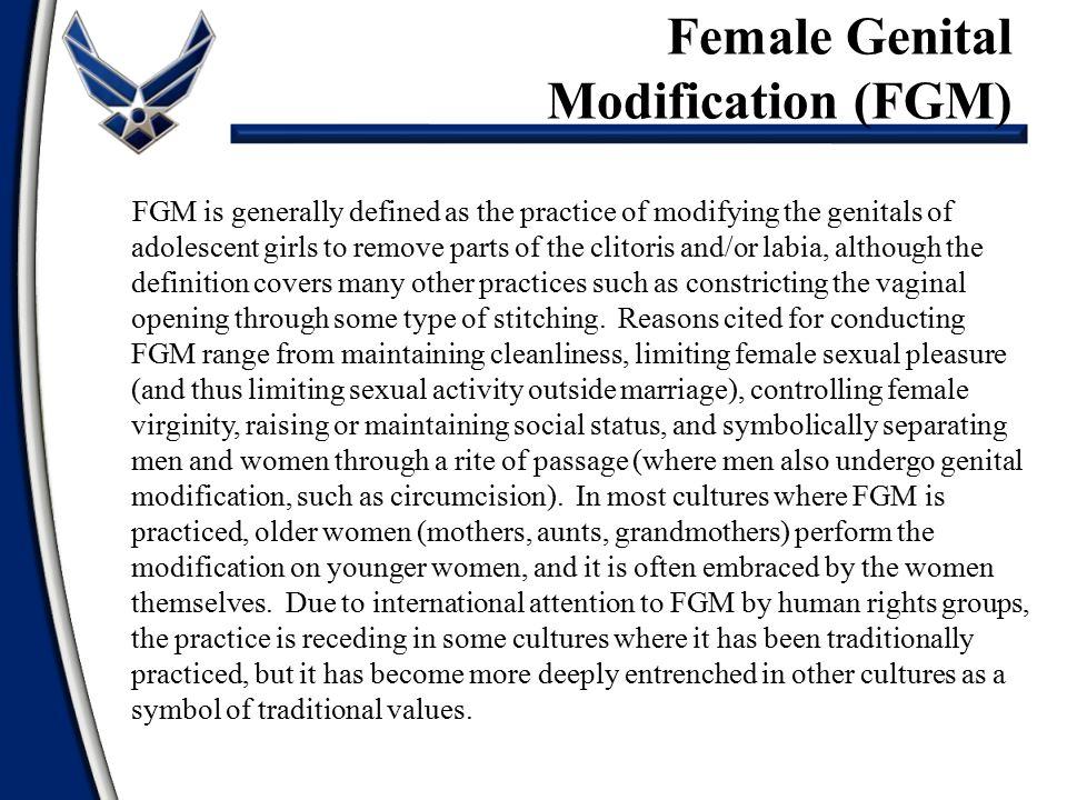 Female Genital Modification (FGM)