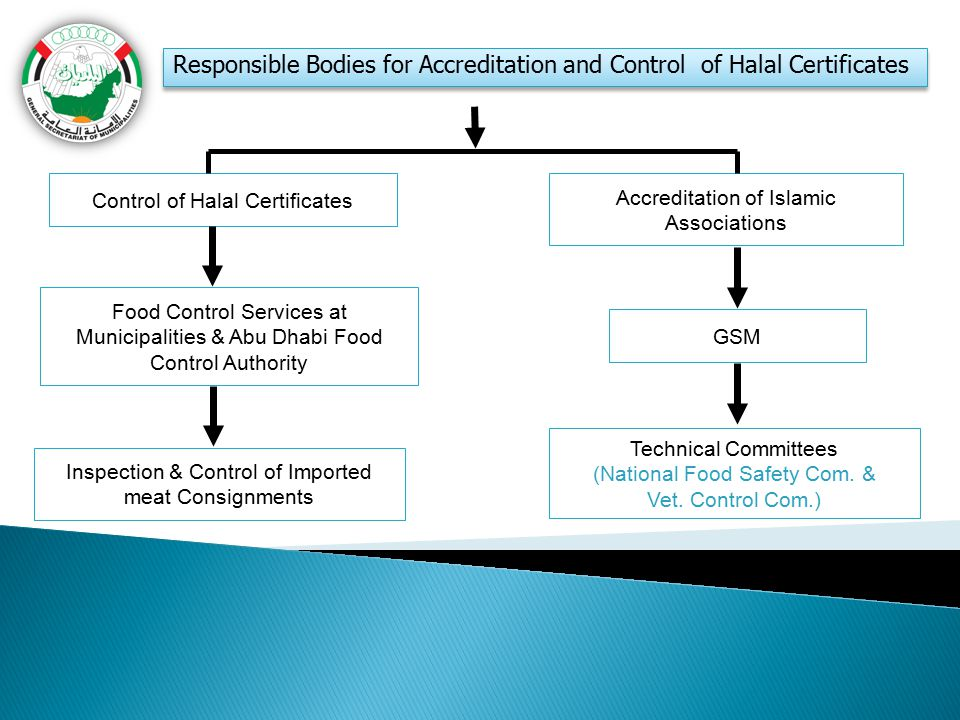 Responsible Bodies for Accreditation and Control of Halal Certificates