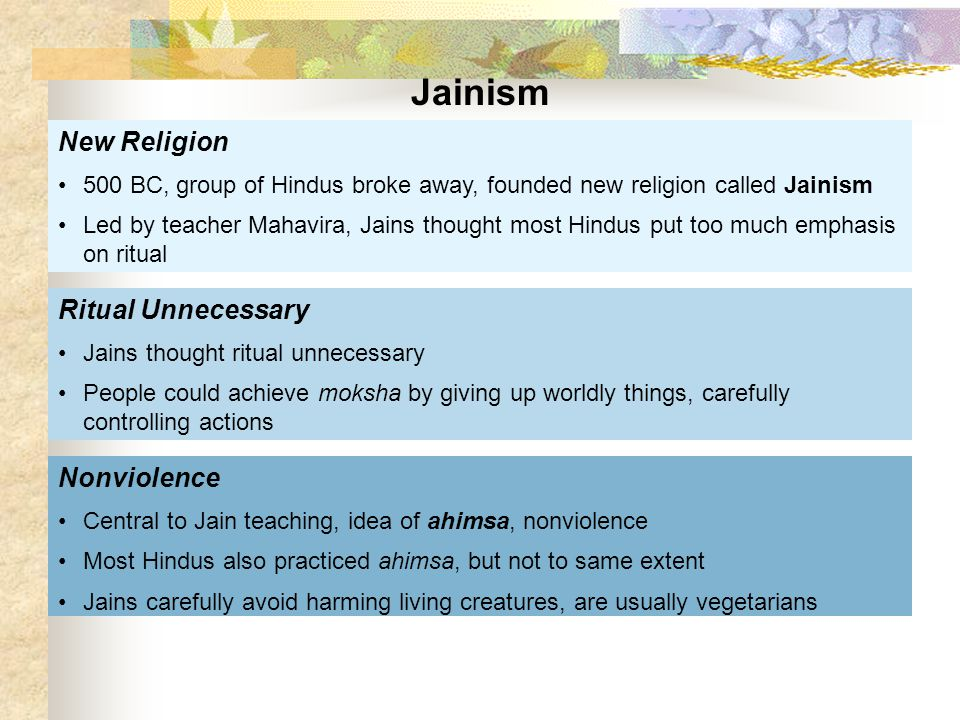Jainism New Religion Ritual Unnecessary Nonviolence