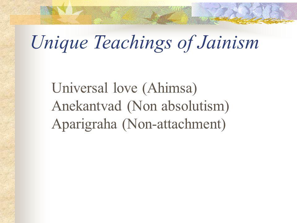 Unique Teachings of Jainism