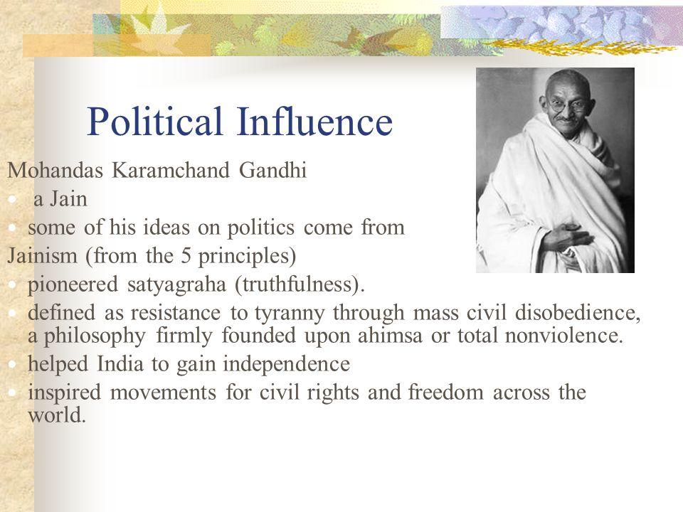 Political Influence Mohandas Karamchand Gandhi a Jain