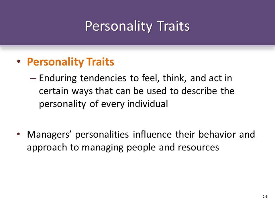 Personality Traits Personality Traits