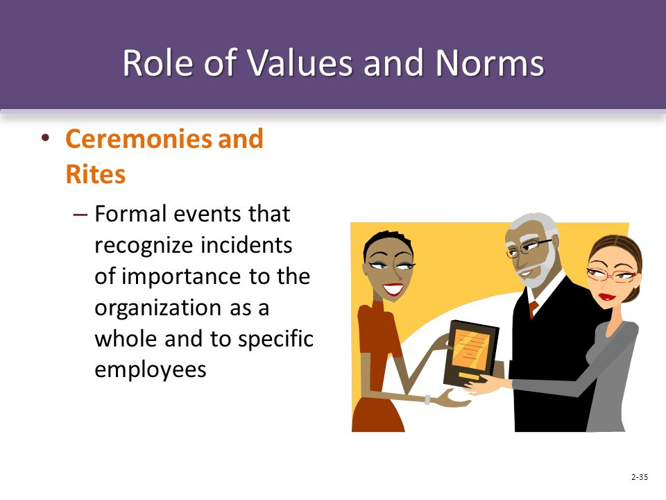 Role of Values and Norms