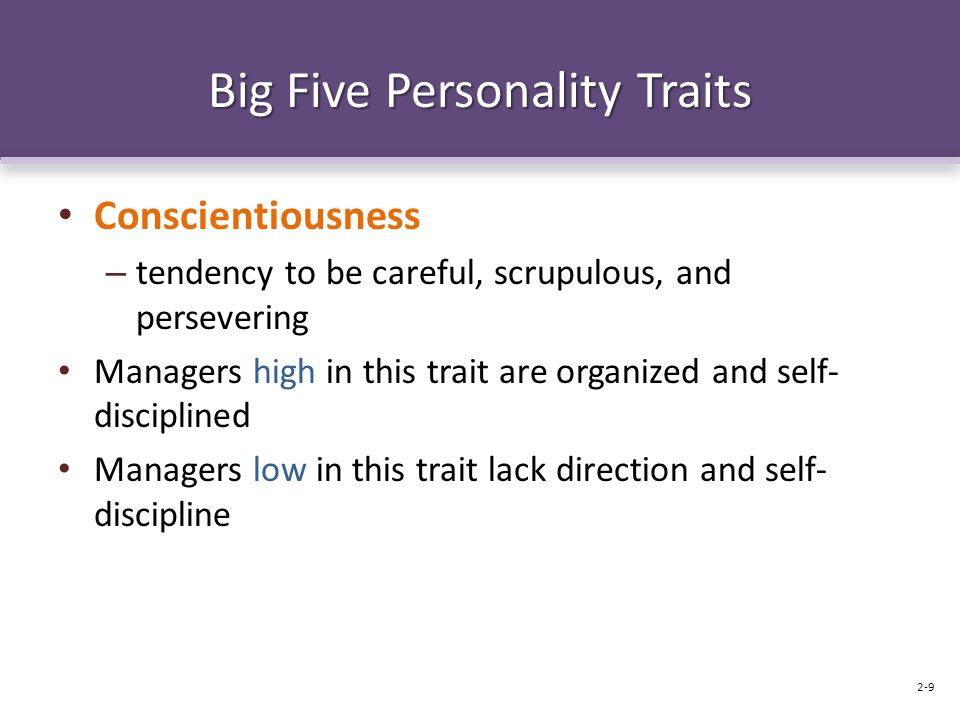 "thesis on big five personality traits I was reading an excellent book recently when i came across the concept of the ""big five"" personality traits i'd never heard of these before but i found them."
