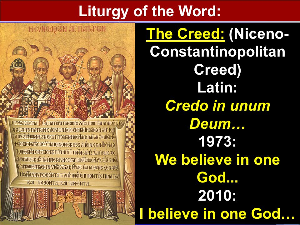 Liturgy of the Word: