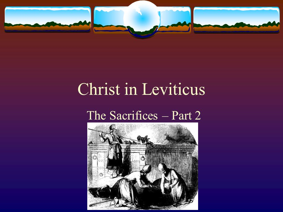 Christ in Leviticus The Sacrifices – Part 2