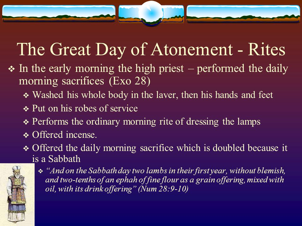 The Great Day of Atonement - Rites