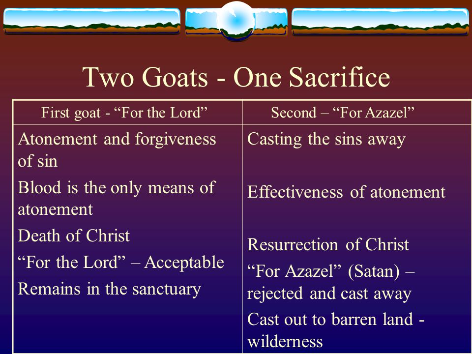 Two Goats - One Sacrifice