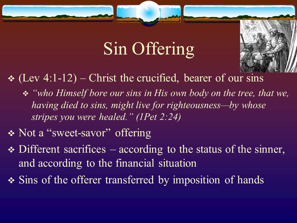 Sin Offering (Lev 4:1-12) – Christ the crucified, bearer of our sins
