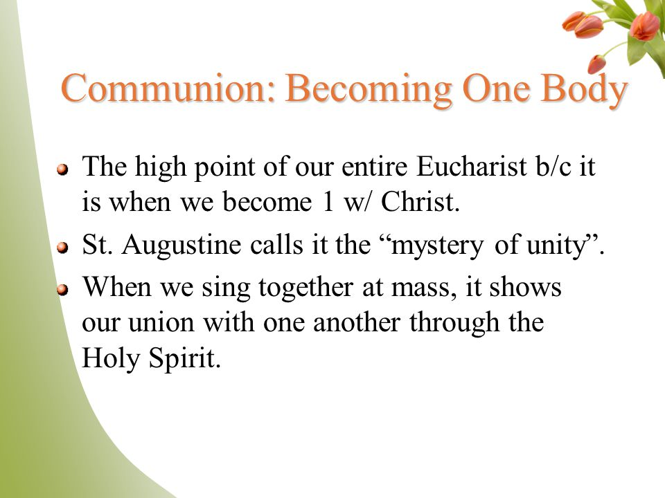 Communion: Becoming One Body