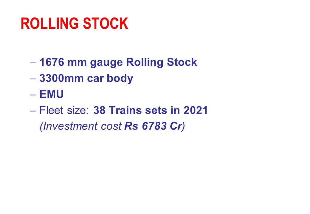 ROLLING STOCK 1676 mm gauge Rolling Stock 3300mm car body EMU