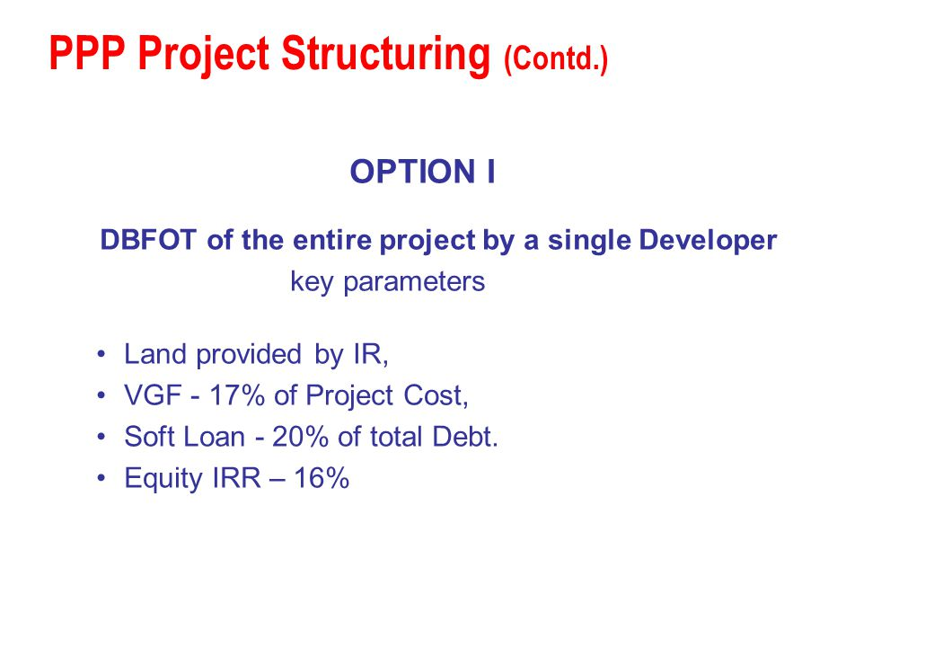 PPP Project Structuring (Contd.)