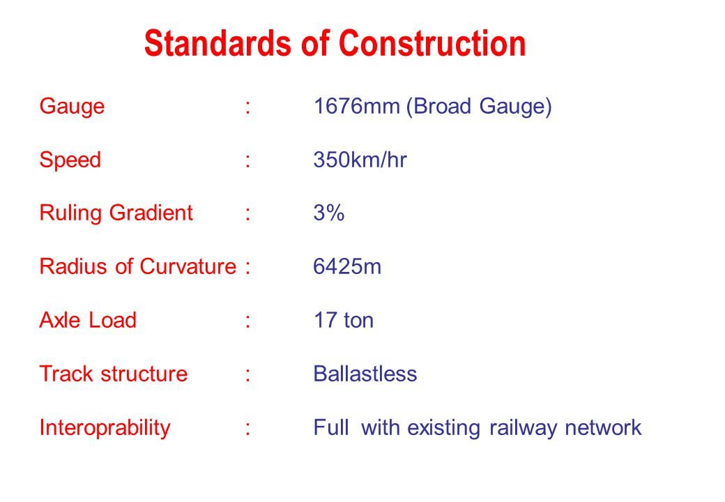 Standards of Construction
