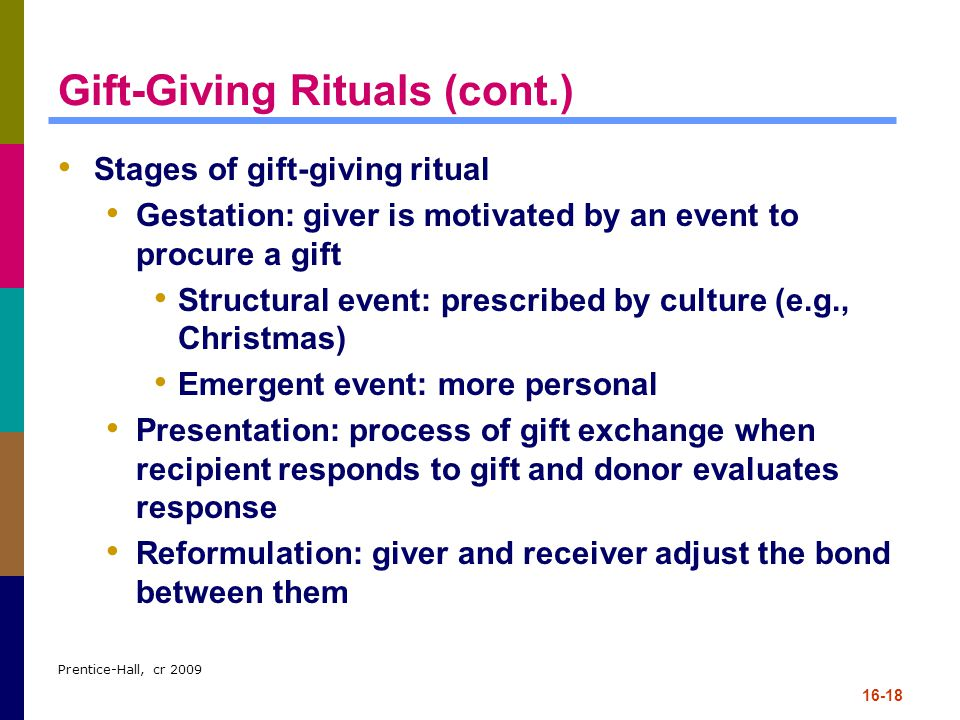 Gift-Giving Rituals (cont.)