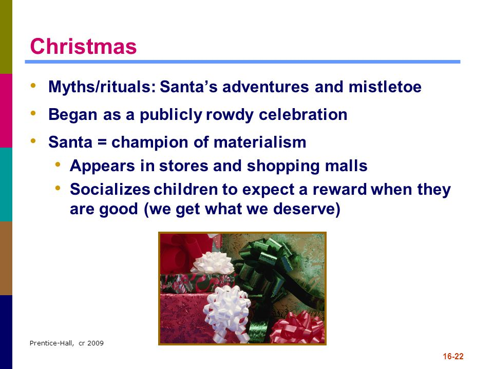 Christmas Myths/rituals: Santa's adventures and mistletoe