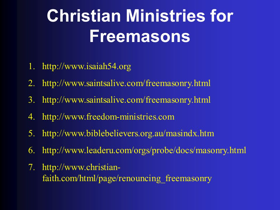 Christian Ministries for Freemasons