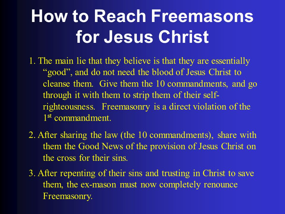 How to Reach Freemasons for Jesus Christ