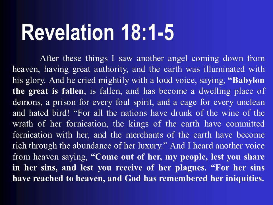 Revelation 18:1-5