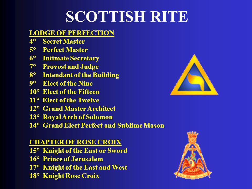 SCOTTISH RITE LODGE OF PERFECTION