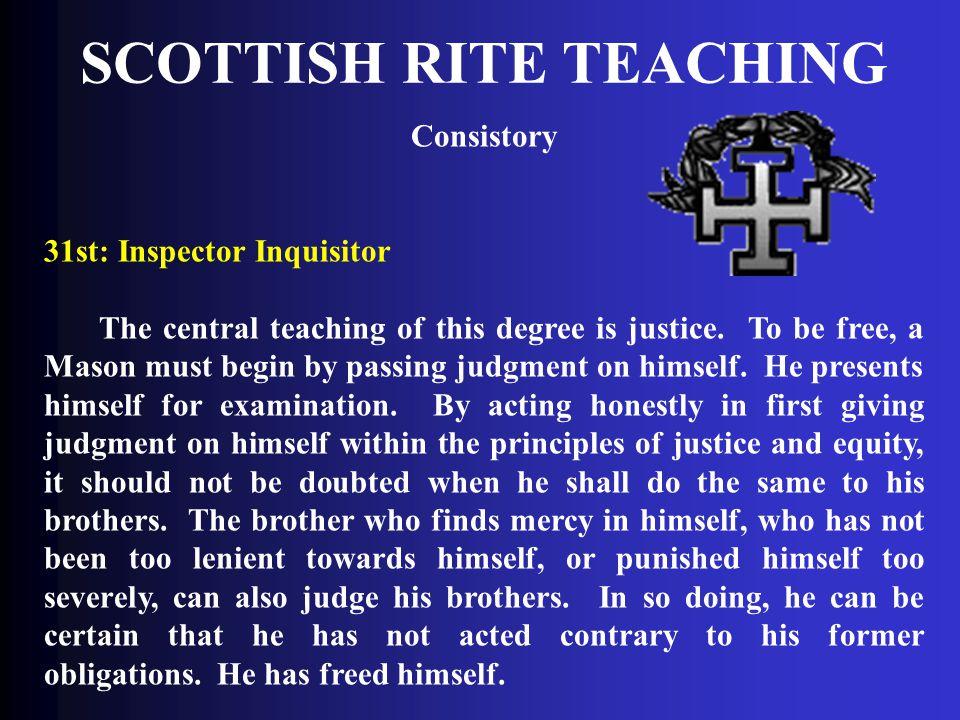SCOTTISH RITE TEACHING