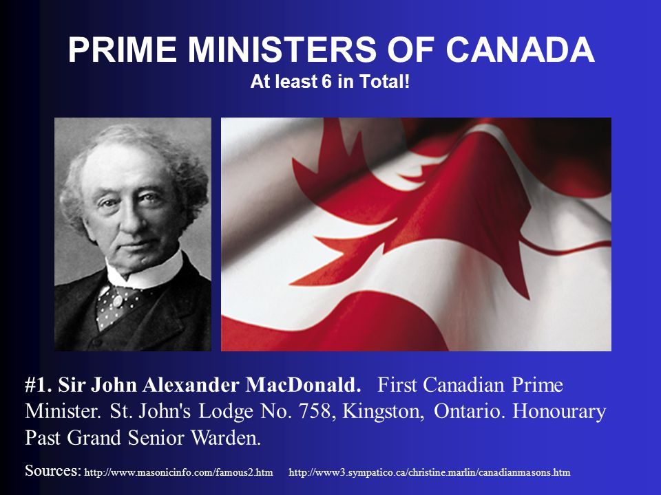 PRIME MINISTERS OF CANADA At least 6 in Total!