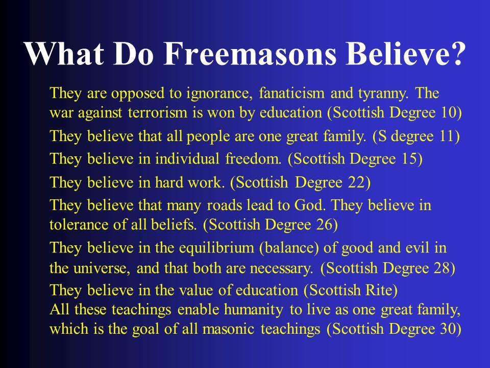 What Do Freemasons Believe