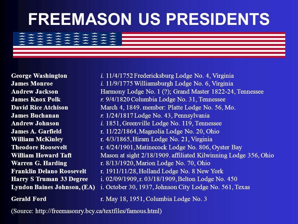FREEMASON US PRESIDENTS