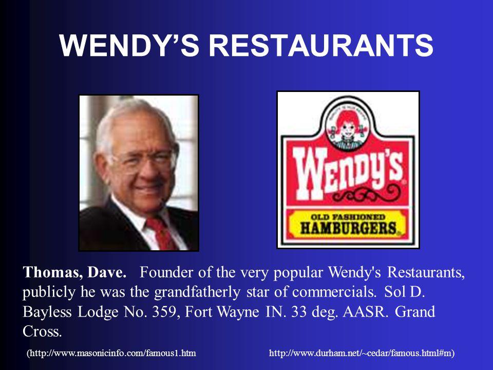 WENDY'S RESTAURANTS