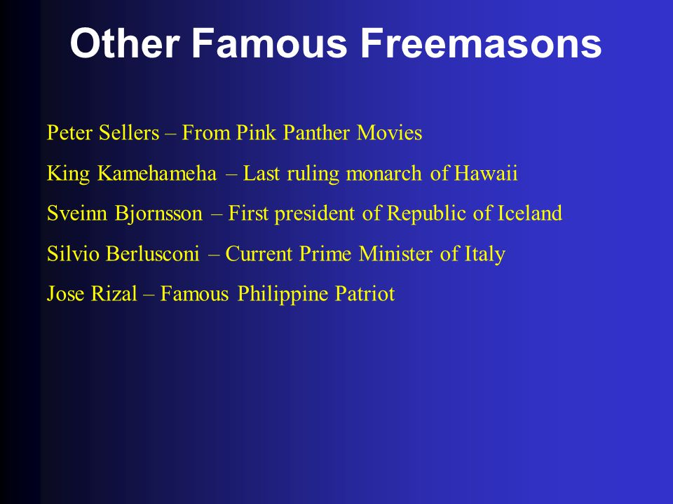 Other Famous Freemasons