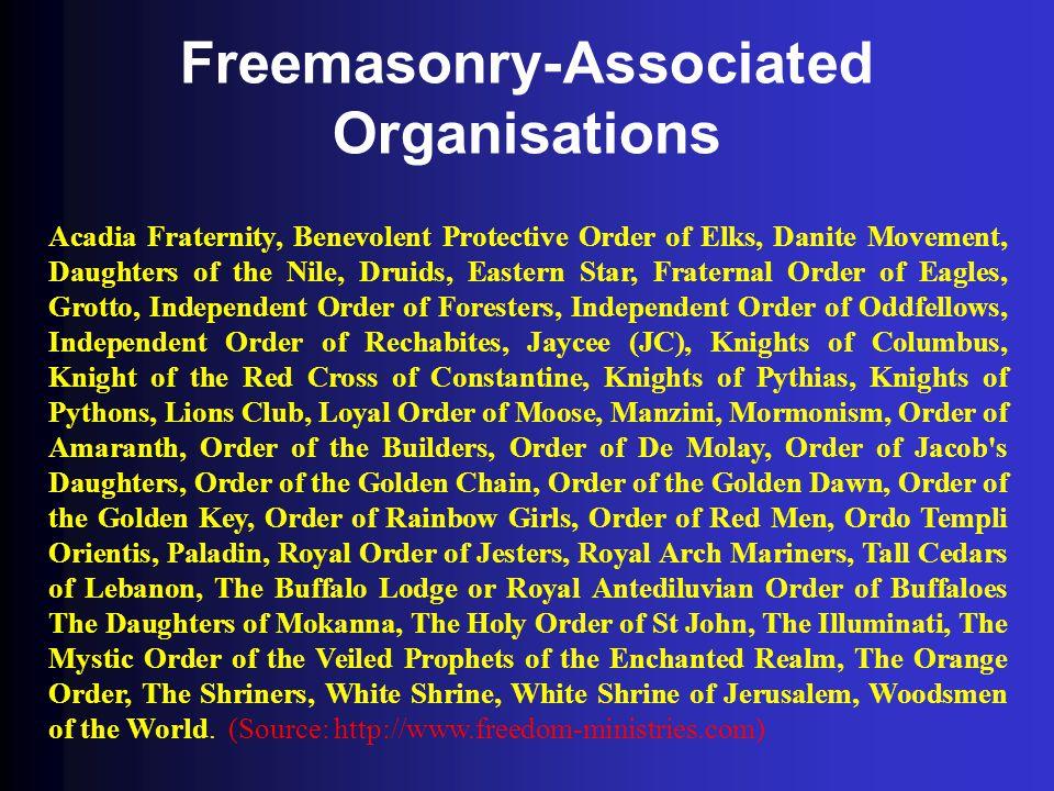 Freemasonry-Associated Organisations